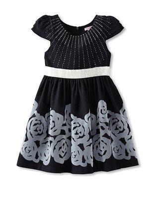 64% OFF Mini Treasure Kids Girl's Ella Rose Dress (Navy)