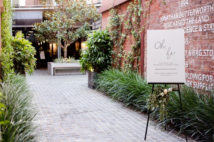 """DY.o events (aka Duo) """"Oh hi"""" Welcome sign. The Stables Perth."""