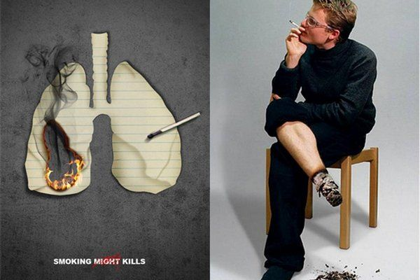 This is not the greatest anti-smoking ad I've ever seen, but it does a great job at getting the point across nonetheless.