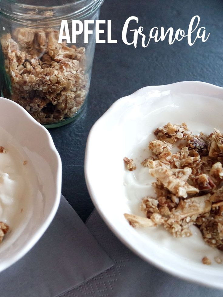 Clean Eating Apfel Granola selbstgemacht.