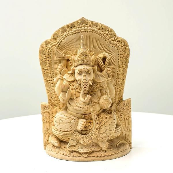 Wisdom Ganesha - Handcrafted masterpiece wood sculpture from Bali. Spiritual decoration for unique places... Gorgeous details on the carving, evoking positiveness. #art #bali # balinese #handcrafted #decoration #decorativeart #dekor #elyapımı #woodart #zanaat #ganesha