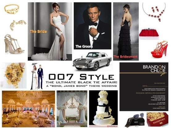 """Bond, James Bond"" wedding theme"