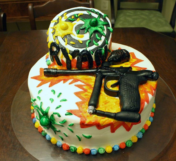 Best Cake Decorating Gun : 20 best Paintball Cake images on Pinterest Paintball ...