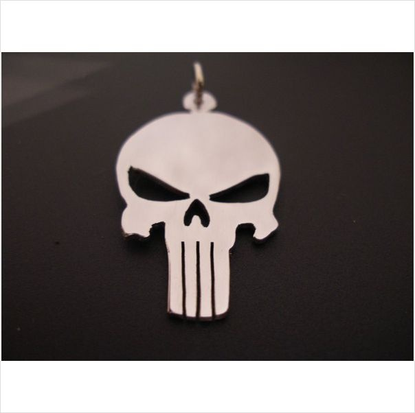 The Punisher Skull Pendant Solid Sterling Silver