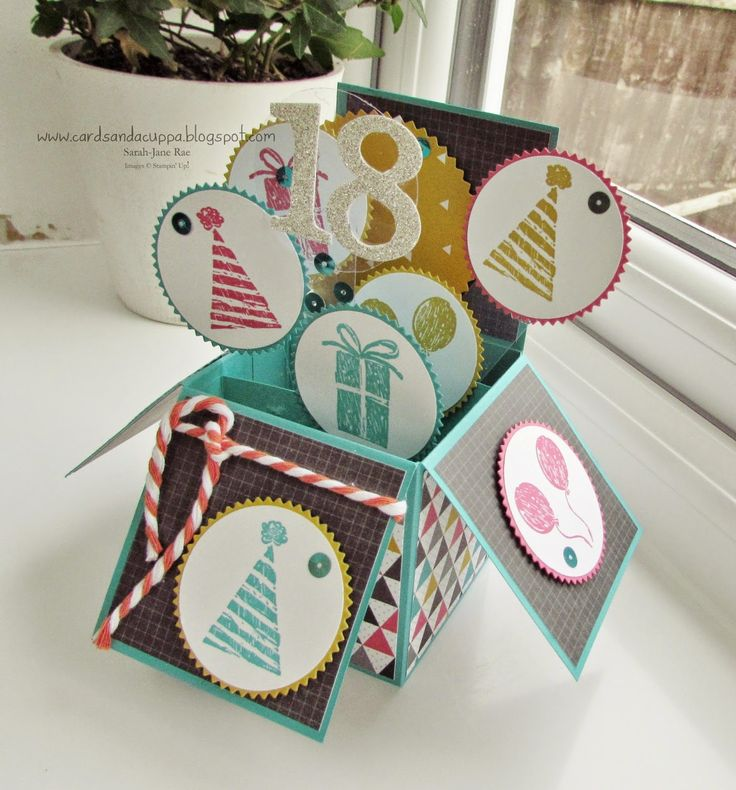 ... Cards and a Cuppa blog: Pop Up Card in a Box for an 18th Birthday