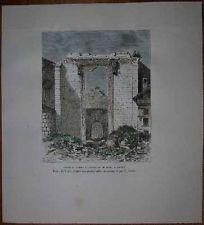 1884 Reclus print TEMPLE OF AUGUSTUS AND ROME, ANKARA, TURKEY (#47)