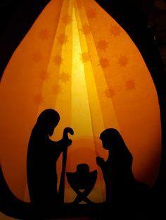 Waldorf Transparentbild Weihnachten von Puppenprofi auf DaWanda.com