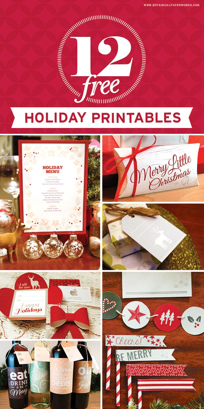 35 best Christmas Printables images on Pinterest | Christmas images ...