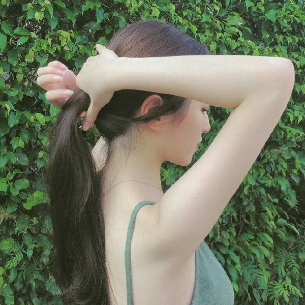 Hair. And skin