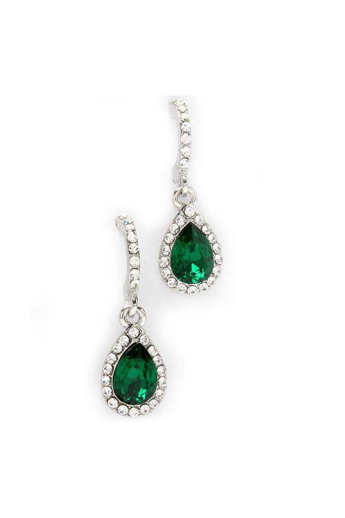 Classic Teardrop Earrings in Emerald
