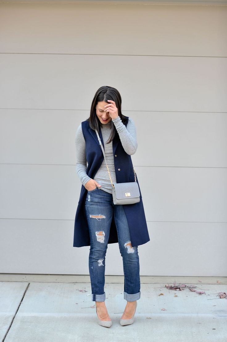 Sleeveless trench coat, fall casual outfit ideas - My Style Vita @mystylevita