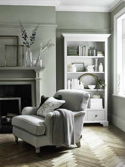 Neptune Olivia armchair in Hugo Millet linen with pale oak legs, Camilla cushions in Isla Mallard velvet