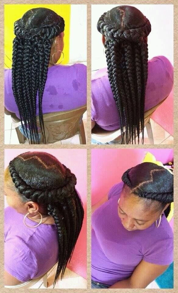 Interesting style by @jahairsalon - http://www.blackhairinformation.com/community/hairstyle-gallery/braids-twists/interesting-style-jahairsalon/