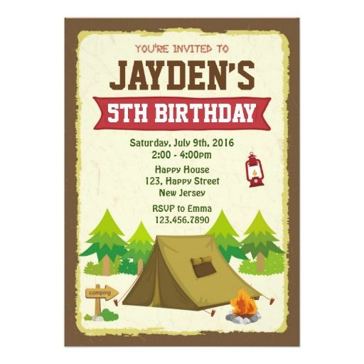 419 best camping and sleepover birthday party invitations images camping birthday invitation stopboris Image collections