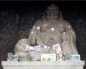 Copyright photo by Anita Rosenberg - Money shrine in Macau