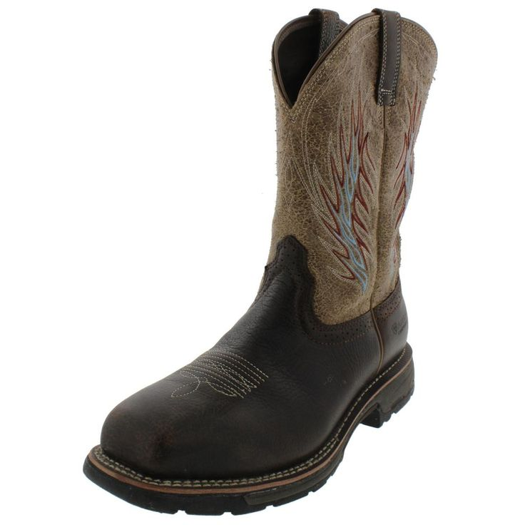 Ariat Mens Workhog MestenoII Leather Western Work Boots