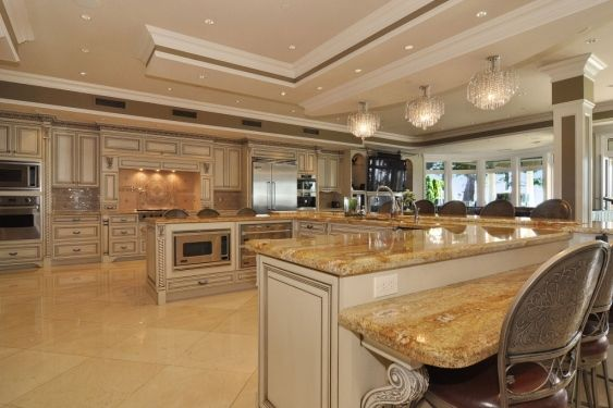 One of my most favorite kitchens love the amount of space for Luxury kitchen