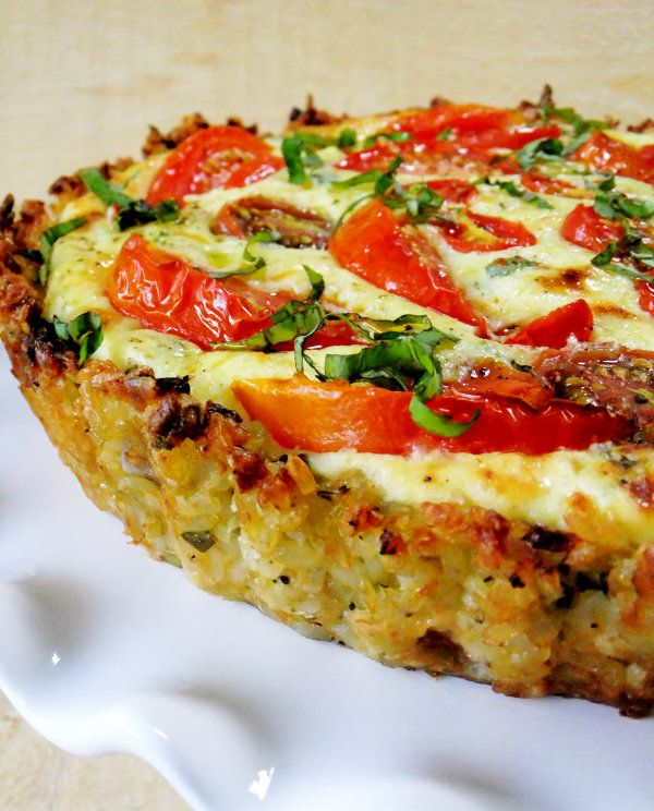 tomato tart with brown rice crust   Yum and Mmmmm Shared on Come N Git It Recipes http://facebook.com/ecblack32