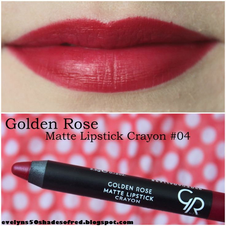 golden rose matte crayon 04