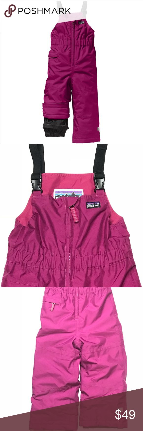 Patagonia Snow Bib Cold weather Overalls Patagonia Snow bib Size 4T  Great snow bib for the little one from your fav brand! Features grow-fit feature H2No Performance Standard Shell 100% Polyester   Color: Purple Patagonia One Pieces