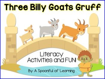 This product is FREE for the week of May 24th- May 31st! I hope you enjoy!This pack is full of fun, hands-on, and interactive literacy activities for your class to do when reading the story, The Three Billy Goats Gruff. There are anchor charts and games too!