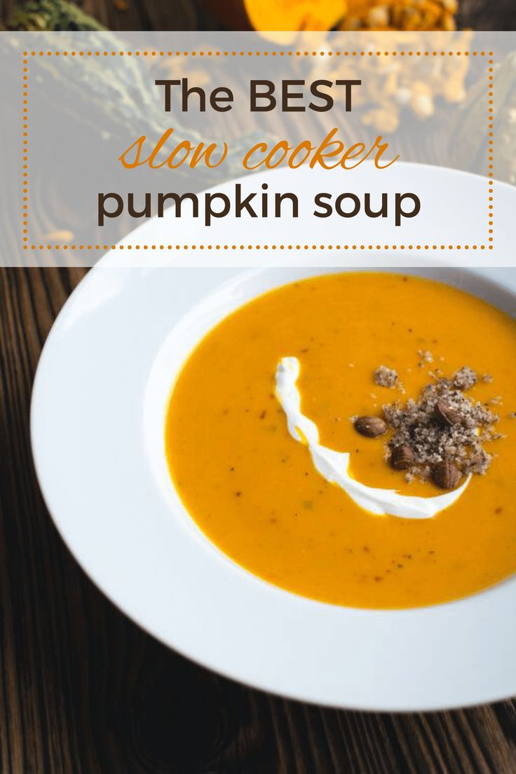 slow cooker pumpkin soup                                                                                                                                                      More