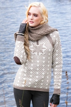 Norwegian Sweater...with elbow patches no less!