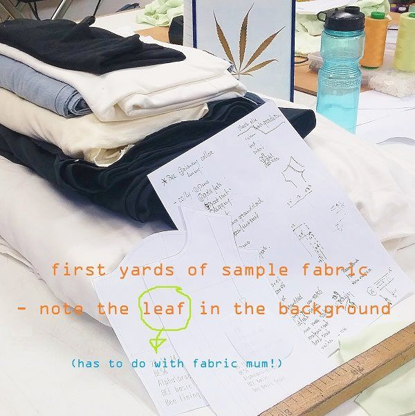 Well, isn't this a solid start - fabrics selected for their nice touch, their beauty and yes, some of them also for their sustainability. To get high on, so to speak.