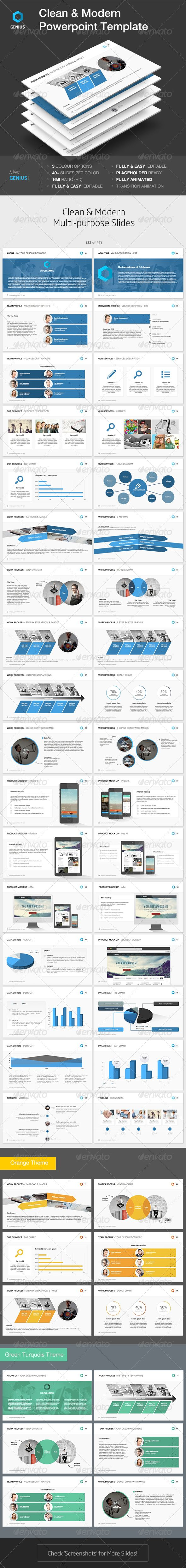 Genius   Powerpoint Template (Powerpoint Templates) #Powerpoint #Powerpoint_Template #Presentation