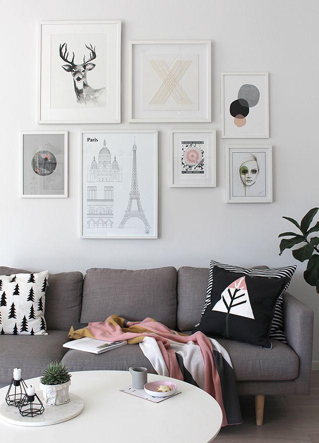 The Design Chaser: Studio Esinam livingroom, art wall