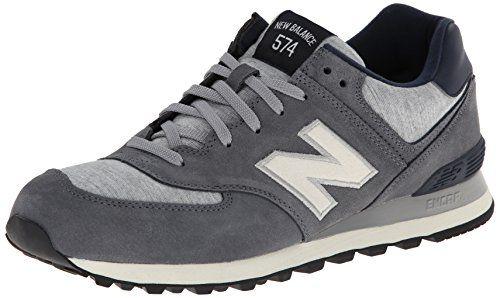 New Balance Men's ML574 Pennant Pack Running Shoe,Grey/White,10 D US New Balance
