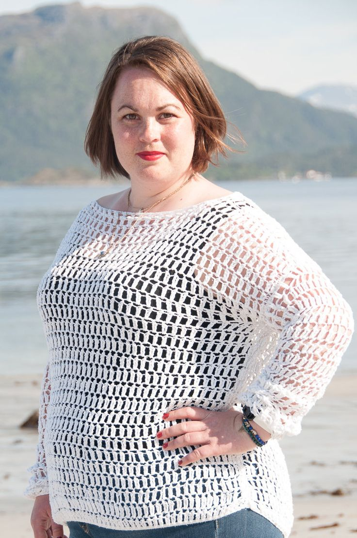 Summer Sweater Crochet Pattern    ★ Crochet pattern for the Summer Sweater, a lacy oversized crochet sweater.  ★ Perfect to as a gift or a pattern that will take less than one weekend to make.  ★ S – XL.  ★ Skill level: EASY  ★ Language: English / US crochet terms.    The Summer sweater crochet pattern are a oversized lacy sweater. It's designed with cotton yarn, however if you decide to use wool yarn you can use it all year through. It stitches up quickly, as the stitches are high