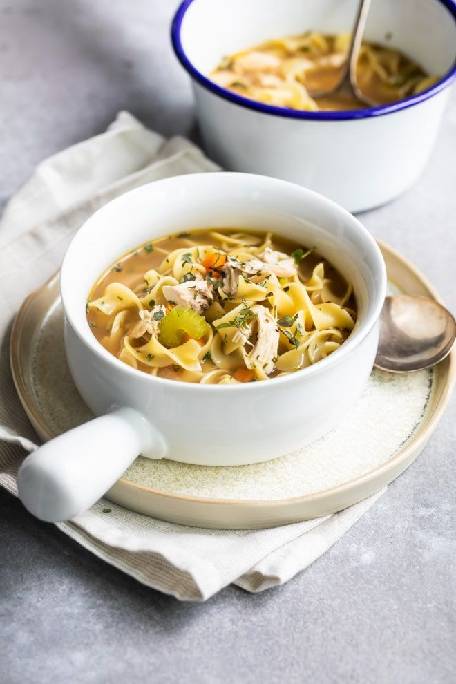Chicken Noodle Soup Recipe Culinary Hill Soup Recipes Chicken Noodle Recipes Noodle Soup Recipes