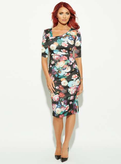 amy childs dresses uk | **Amy Childs 'Harper' floral pencil dress - Dorothy Perkins