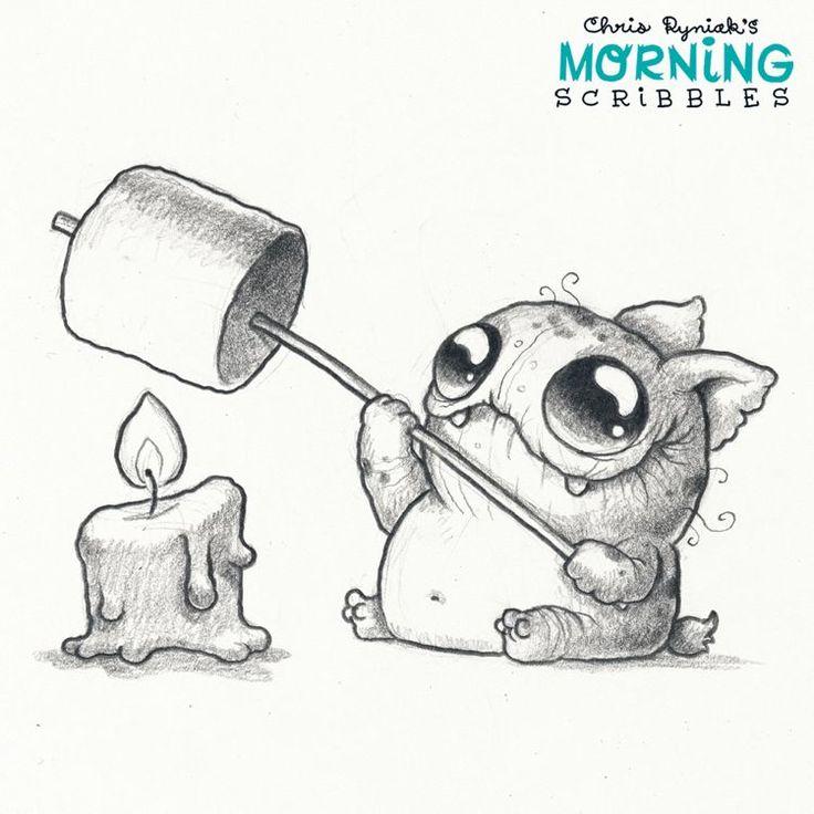 Dammit he's sooooo CUTE!! | Morning Scribbles by Chris Ryniak