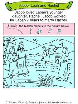 Sunday school activity about Leah & Rachel for ages 3-6