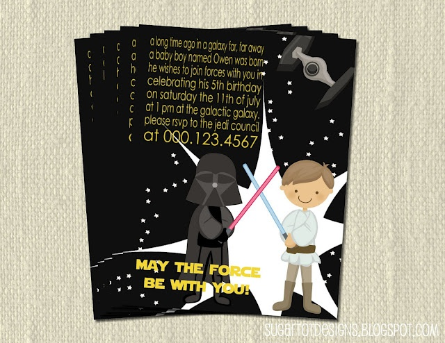 Star Wars Birthday Party Invitation Wording Kids
