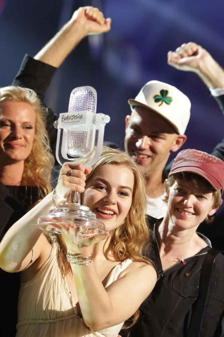 Emmelie de Forest of Denmark is announced as the winner of Eurovision 2013.
