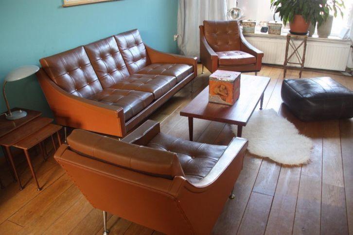 Marktplaats tip: Retro 3 zitsbank + 2 fauteuils van Stonehill furniture