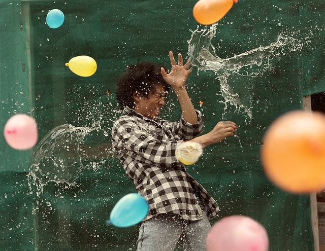 Yea im usually the one getting pelted by water balloons five brothers will do that to you