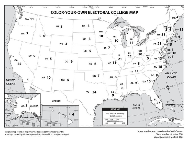 All sizes | Color-Your-Own Electoral College Map | Flickr - Photo Sharing!