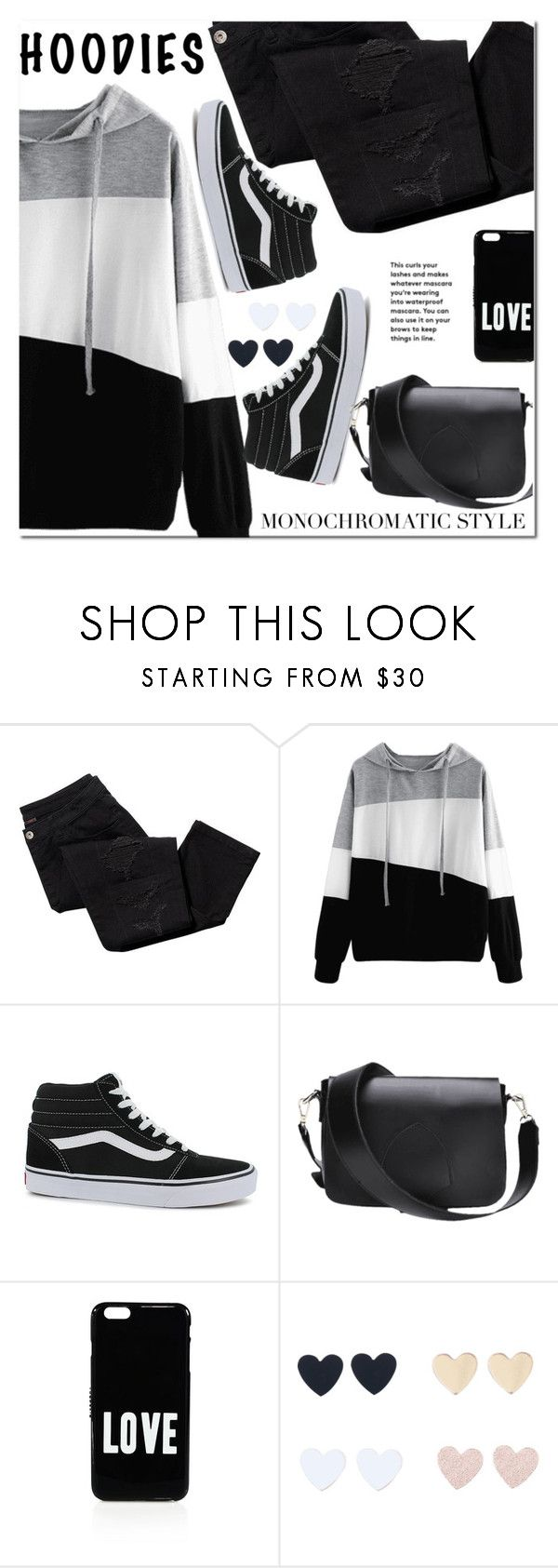"""""""In My Hood: Cozy Hoodies"""" by ansev ❤ liked on Polyvore featuring Avon, Vans, Givenchy, black, bag, Hoodies and Monochromaticstyle"""