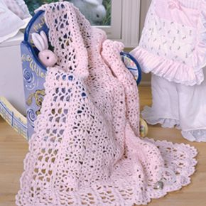 Perfect in Pink Baby Afghan Crochet Pattern ePattern