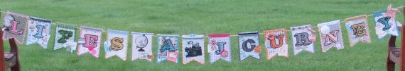 Life's A Journey Banner - one of a kind made for a special party, engagement, going away party or retirement