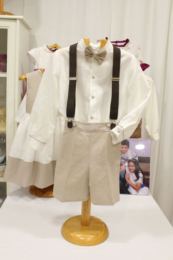 Boys linen suit. Beautiful ring bearer outfit. Boy by MariaPlatero
