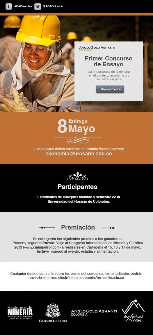 Primer concurso de ensayo. Bogotá – Estudiantes Universidad del Rosario.