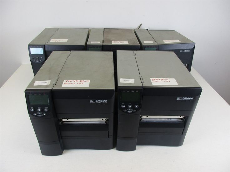 LOT OF 5 - Zebra ZM600 Barcode Printers (ZM600-2001-0700T) AS-IS