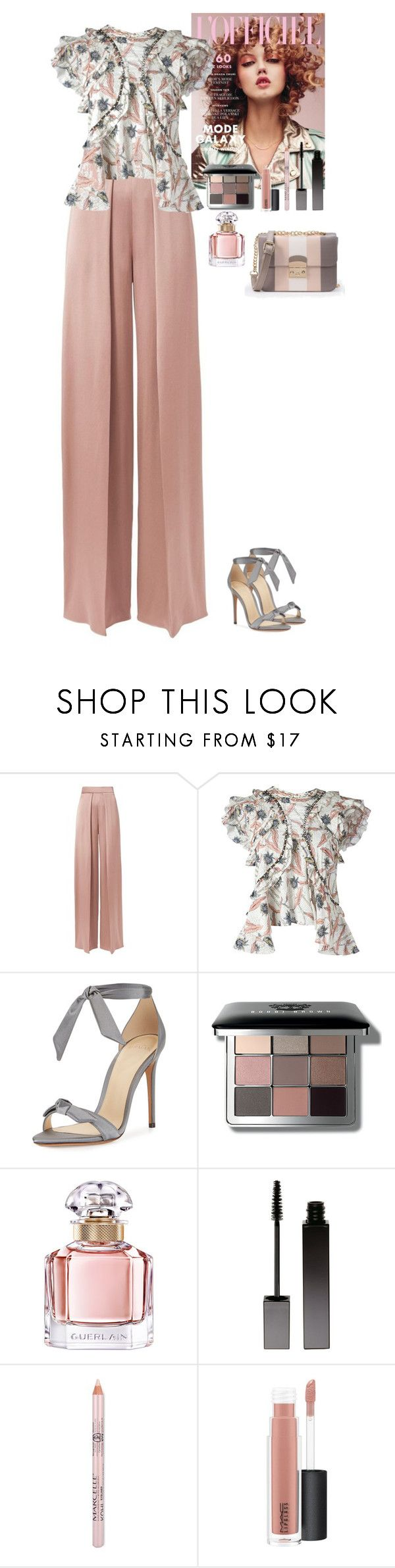 """""""Spring outfit"""" by eliza-redkina ❤ liked on Polyvore featuring Cushnie Et Ochs, Isabel Marant, Alexandre Birman, Bobbi Brown Cosmetics, Guerlain, Serge Lutens, MAC Cosmetics, WithChic, outfit and like"""