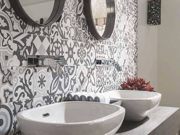 Recouvrir Carrelage Salle De Bain Deco M6 Tile Bathroom Round Mirror Bathroom Tiles