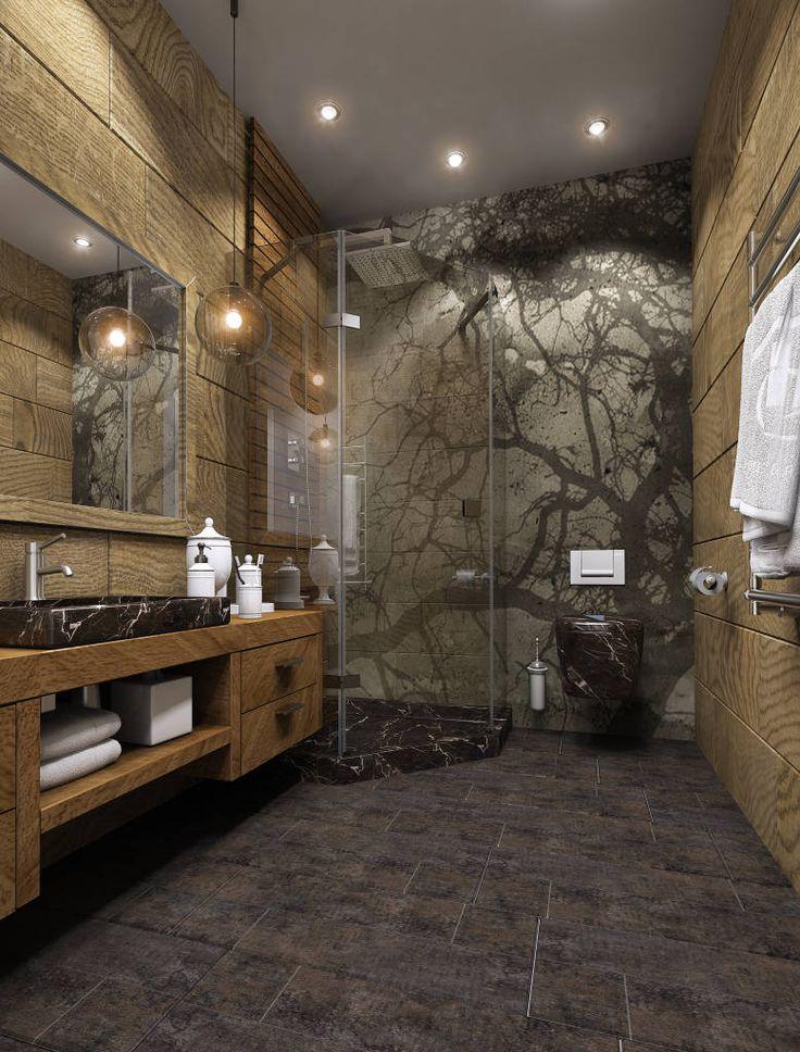 Casas de banho ecléticas por MONTE FEE INTERIOR DESIGN STUDIO